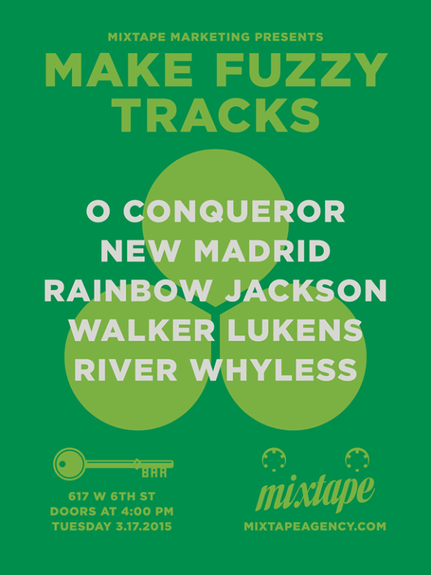 Make Fuzzy Tracks 2015 party poster