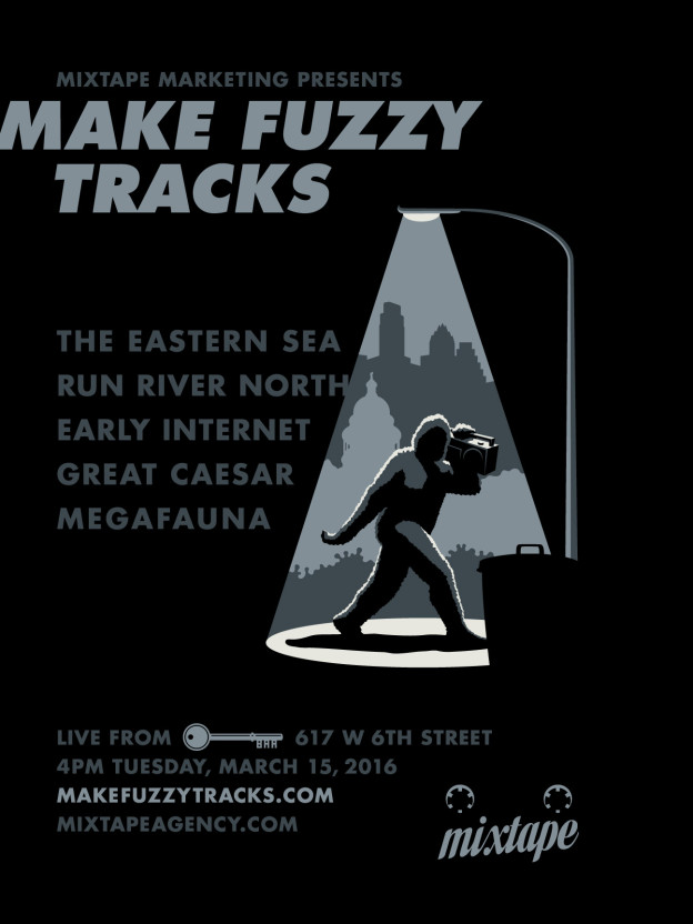 Make Fuzzy Tracks 2016 party poster
