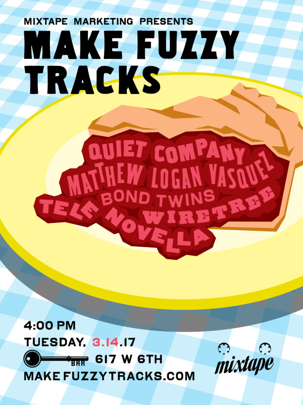Make Fuzzy Tracks 2017 party poster