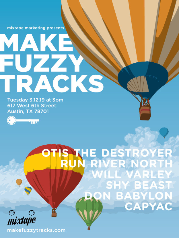 2019 Make Fuzzy Tracks music party poster